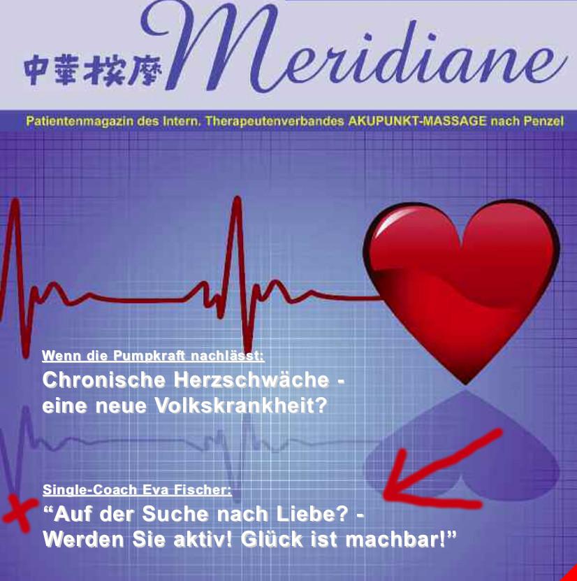 """Meridiane: """"Single-Coach Eva Fischer: Auf der Suche nach Liebe? Glück ist machbar!"""""""