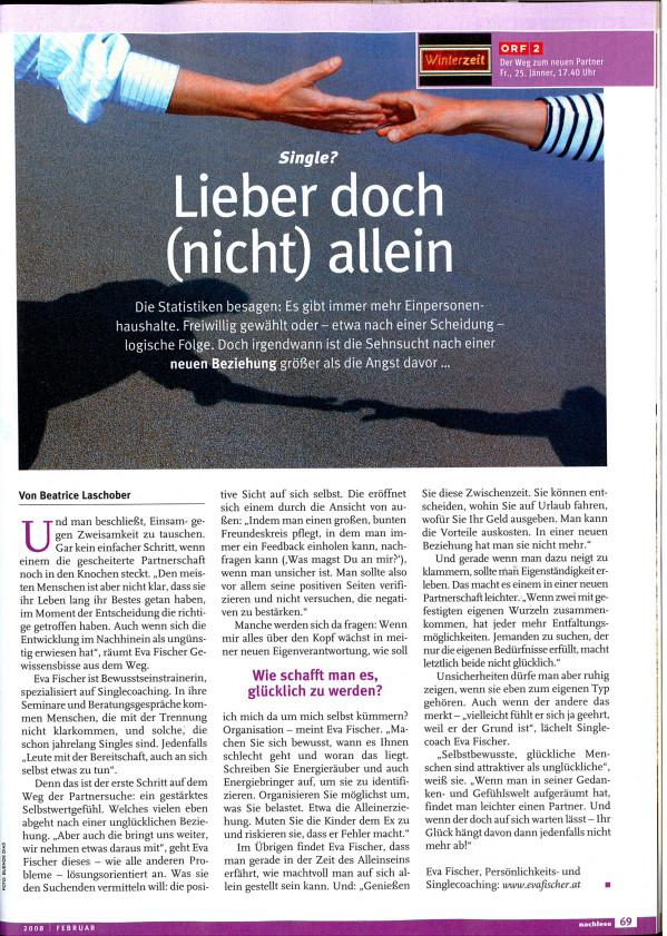 """ORF Nachlese: """"Lieber doch nicht allein"""""""