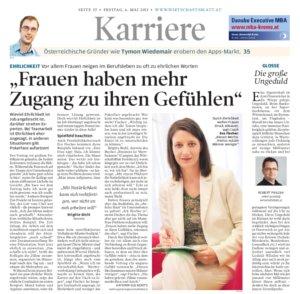 """Wirtschaftsblatt: """"Frauen und Gefühle"""""""