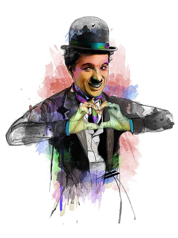 Lebensweisheit von Charlie Chaplin