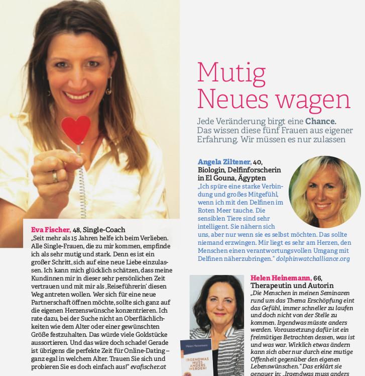 """""""Mutig Neues wagen"""" Zeitschrift Vital"""